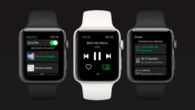 Apple Watch Series 4 Spotify