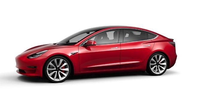 Tesla Model 3 yanlama drift performans versiyonu pist modu