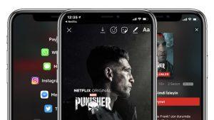 Netflix Instagram Hikayeler paylaşımı