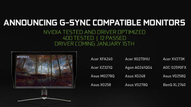 G-Sync desteği alacak FreeSync monitörler