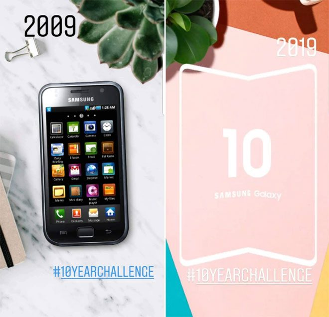Samsung #10YearChallenge katlanabilir akıllı telefon Samsung Galaxy Fold