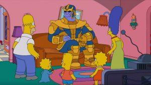 Avengers Infinity War Thanos The Simpsons ziyareti