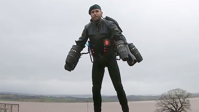 Richard Browning komando asker jetpack video