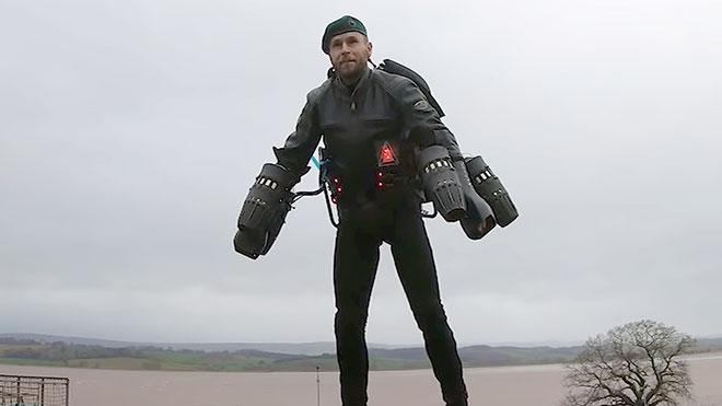 Richard Browning komando asker jetpack video