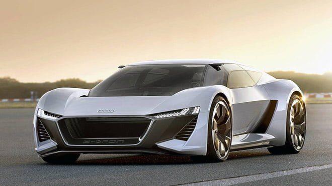 Audi PB18 e-tron vs yeni Tesla Roadster