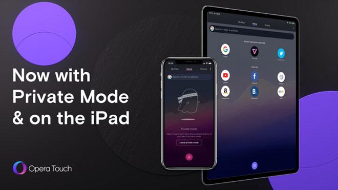 Opera Touch iPad