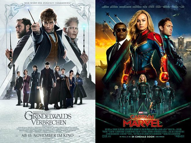 Fantastik Canavarlar 2 esintileri taşıyan yeni Captain Marvel posteri
