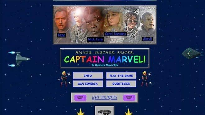 Captain Marvel retro site