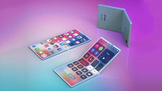 Apple katlanabilir akıllı telefon katlanabilir iPhone