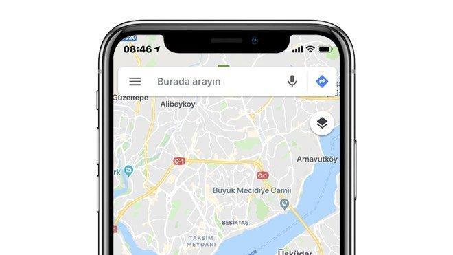 Google Haritalar için artırılmış gerçeklik desteği