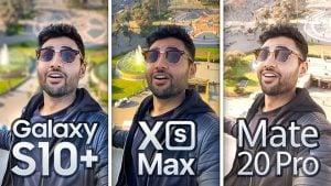 Huawei Mate 20 Pro, Samsung Galaxy S10+ ve Apple iPhone Xs Max,