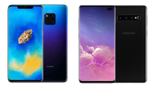 Huawei Mate 20 Pro Samsung Galaxy S10+
