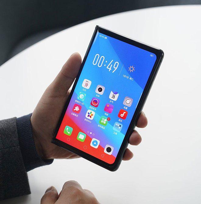 Oppo katlanabilir telefon katlanabilir akıllı telefon