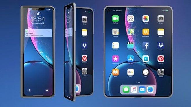 Samsung Galaxy Fold iPhone X Fold katlanabilir akıllı telefon