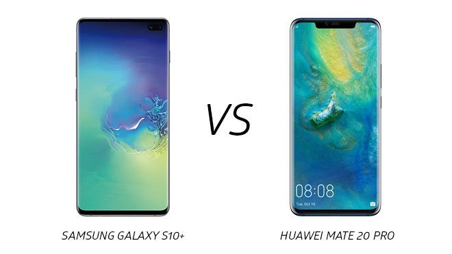 Samsung Galaxy S10+ Apple Huawei Mate 20 Pro