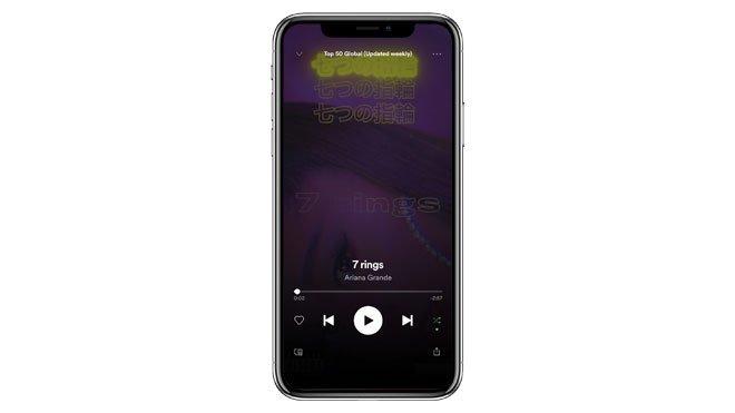 Apple Music rakibi Spotify arayüz güncellemesi