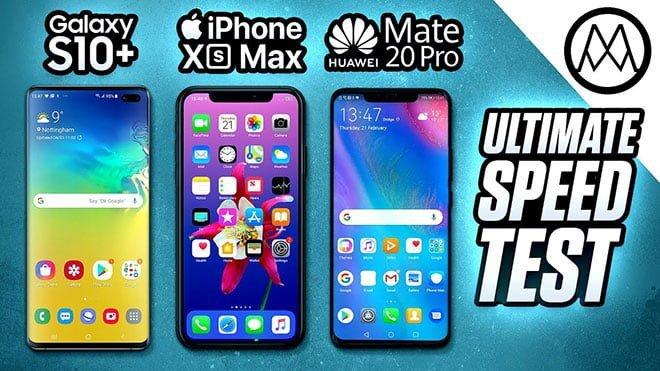 Huawei Mate 20 Pro, Samsung Galaxy S10+ ve Apple iPhone Xs Max hız testinde karşı karşıya
