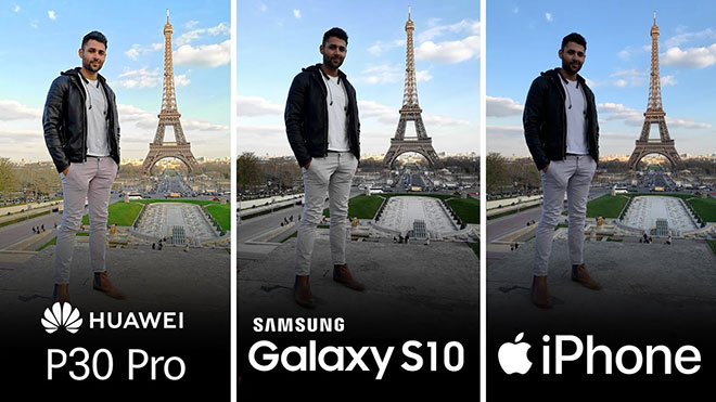 Huawei P30 Pro Samsung Galaxy S10+ Apple iPhone Xs Max