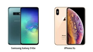 Samsung Galaxy S10e iPhone Xs