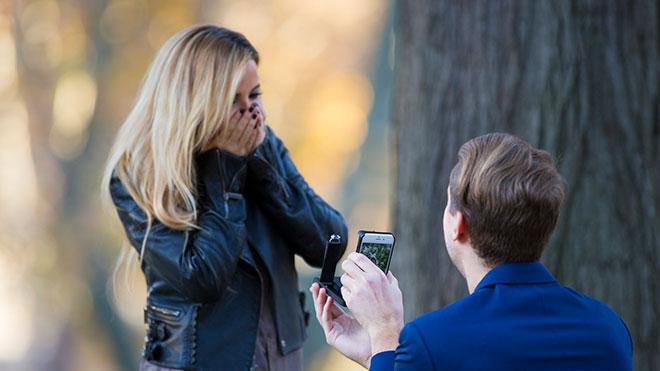 iPhone RokShok evlilik teklifi