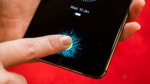 ekrana entegre parmak izi sensörü