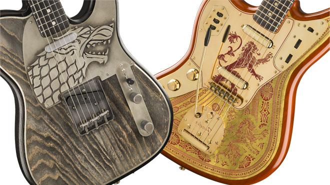 Game of Thrones 8. sezon şerefine üretilen Fender gitarlar