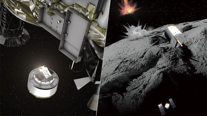 Hayabusa 2 ryugu uzay aracı bomba
