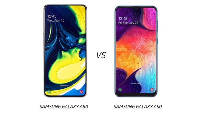 Samsung Galaxy A80 vs Samsung Galaxy A50