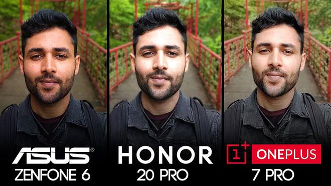 Asus Zenfone 6 vs Honor 20 Pro vs OnePlus 7 Pro