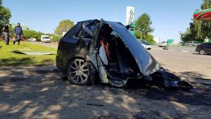 Audi Q7 kazası