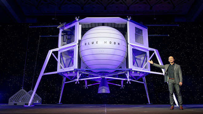 Blue Moon Amazon Blue Origin Jeff Bezos uzay aracı Ay