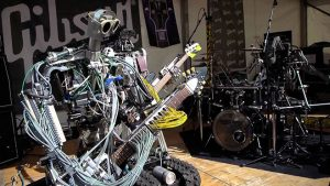 robot müzik grubu Compressorhead