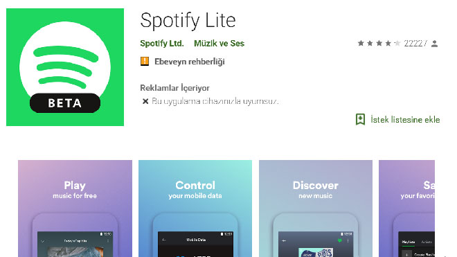 Spotify lite beta