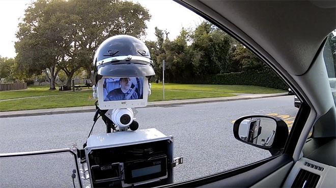 Trafik polisleri polis robot