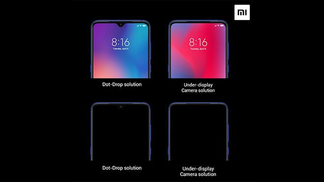 Xiaomi ekran altı teknolojisi