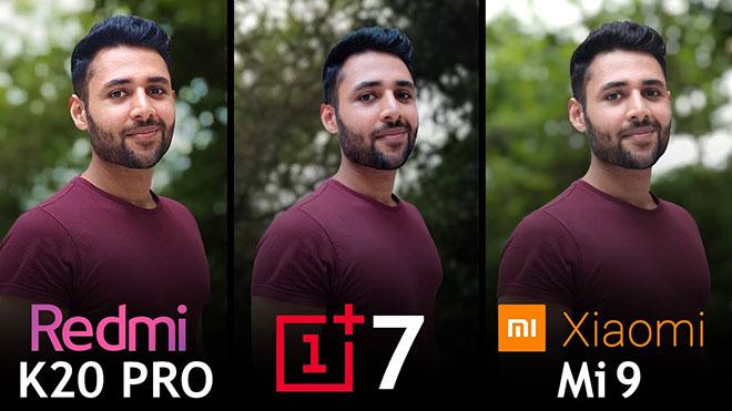 Xiaomi Redmi K20 Pro vs OnePlus 7 vs Xiaomi Mi 9