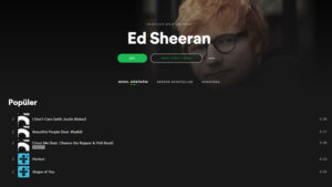 Spotify Ed Sheeran