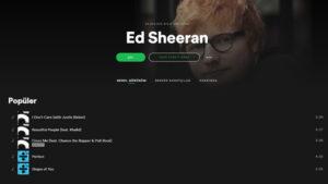 Spotify Ed Sheeran