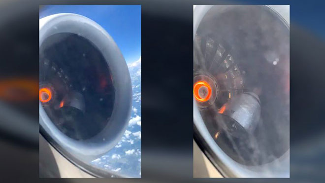 uçak acil iniş motor arızası