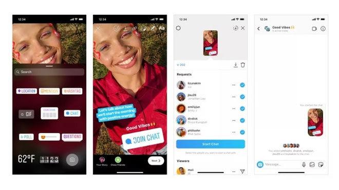 Instagram sohbet çıkartması ekleme