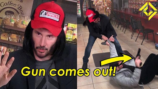 Keanu Reeves deepfake