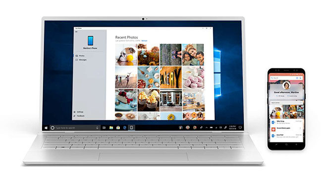 Microsoft Windows 10 Your Phone telefonunuz uygulaması