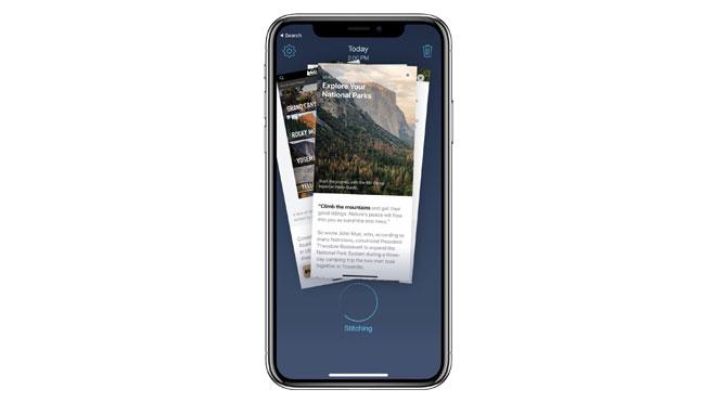 iPhone için uzun ekran görüntüsü alma uygulaması