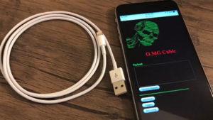 Bilgisayar hackleyen iPhone lightning kablosu