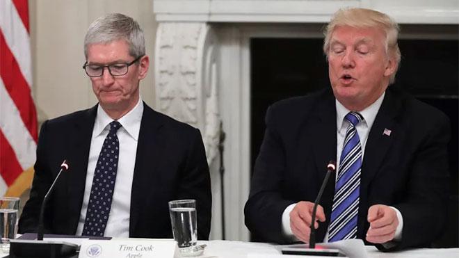Donald Trump Tim Cook Apple Çin ABD