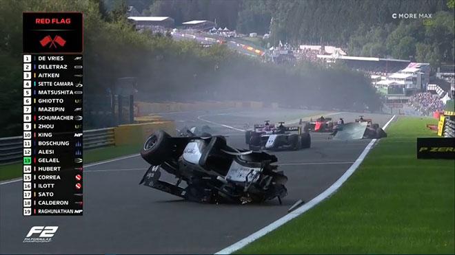 Formula 2 kazası Anthoine Hubert
