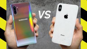 Samsung Galaxy Note 10 Plus vs Apple iPhone Xs Max