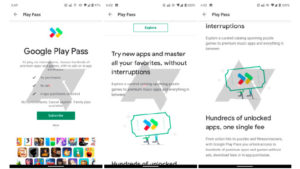 Google Play Store Play Pass