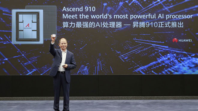 Huawei the world's fastest processor Ascend 910