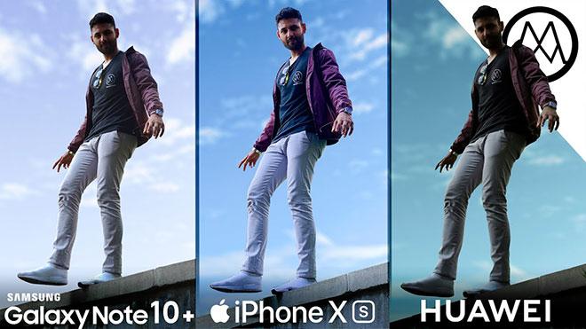 Samsung Note 10 Plus vs iPhone XS Max vs Huawei P30 Pro kamera testinde karşı karşıya [Video]